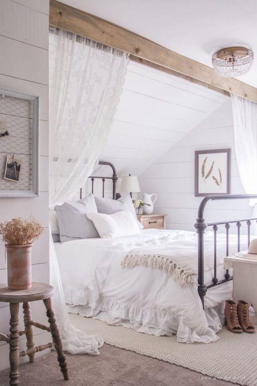 39 rustic farmhouse bedroom design and decor ideas to for Rustic farmhouse bedroom