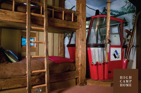 The Cabin/ Ski House Bunk Room. #bunkbeds