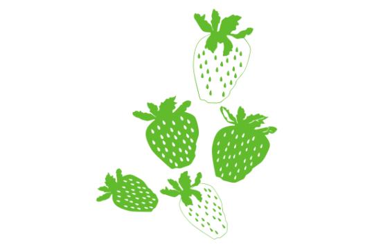Erdbeeren an der Wand
