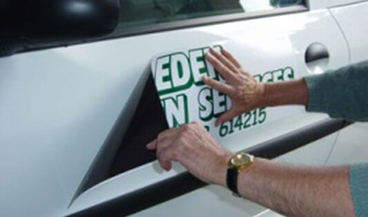 Magnetic Signs Are Commonly Used On Vehicle To Display Company - Magnetic car decals
