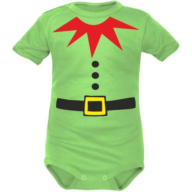 Body Bebe Noel Body bébé lutin de Noël (manches courtes ou longues)   Tenue de