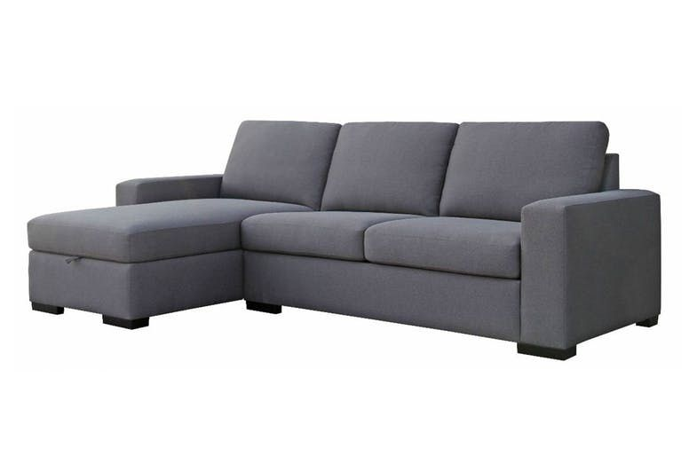 Jemma 3 Seater Fabric Sofa Bed With Chaise Fabric Sofa Bed Sofa Bed With Chaise Corner Couch