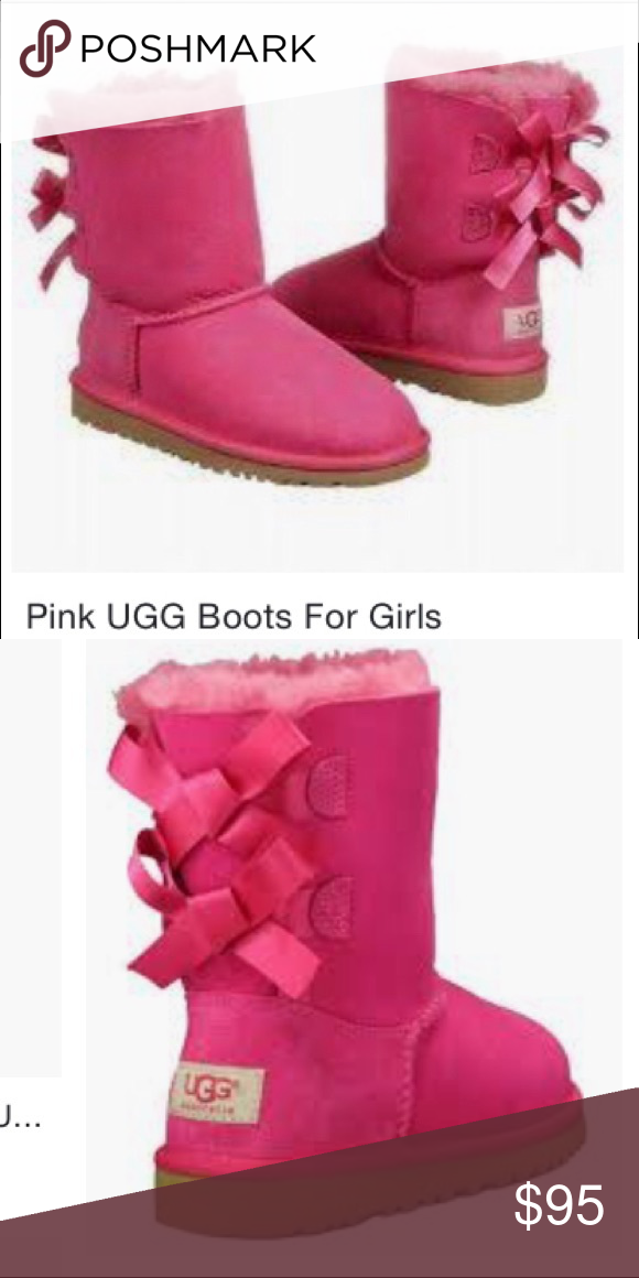 dd7479fadfd Bright Pink Bailey Bow UGGs NEw without box Bright Pink Bailey Bow ...