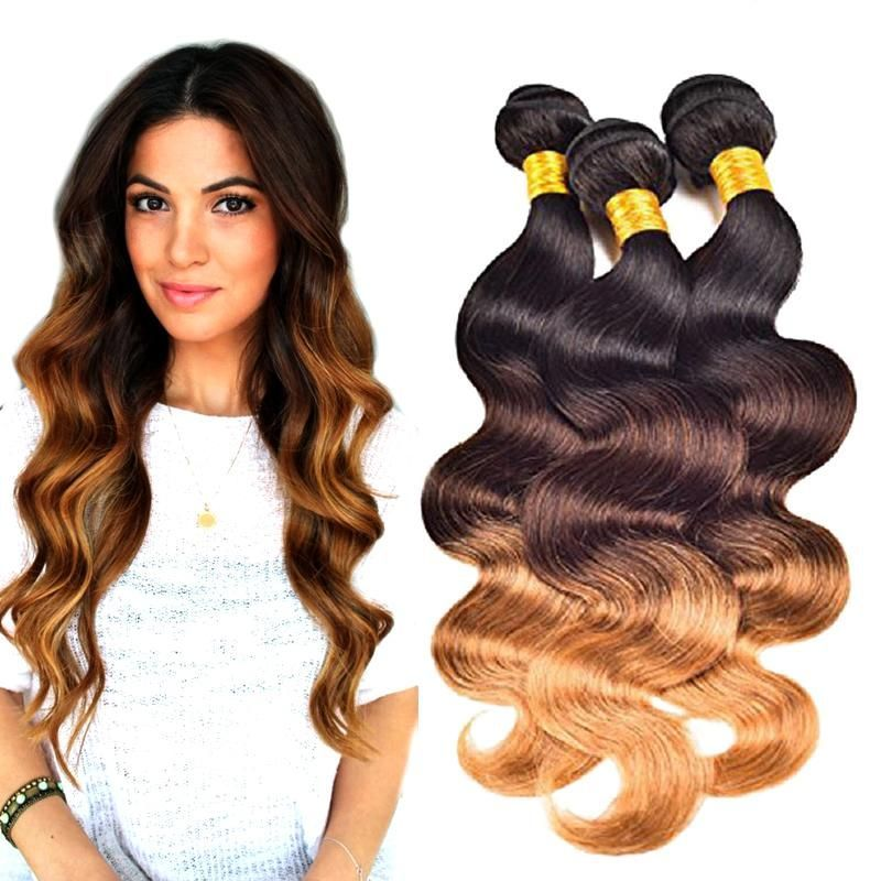 Morningsilkwig Body Wave 100 Human Hair 1b/4/27 color