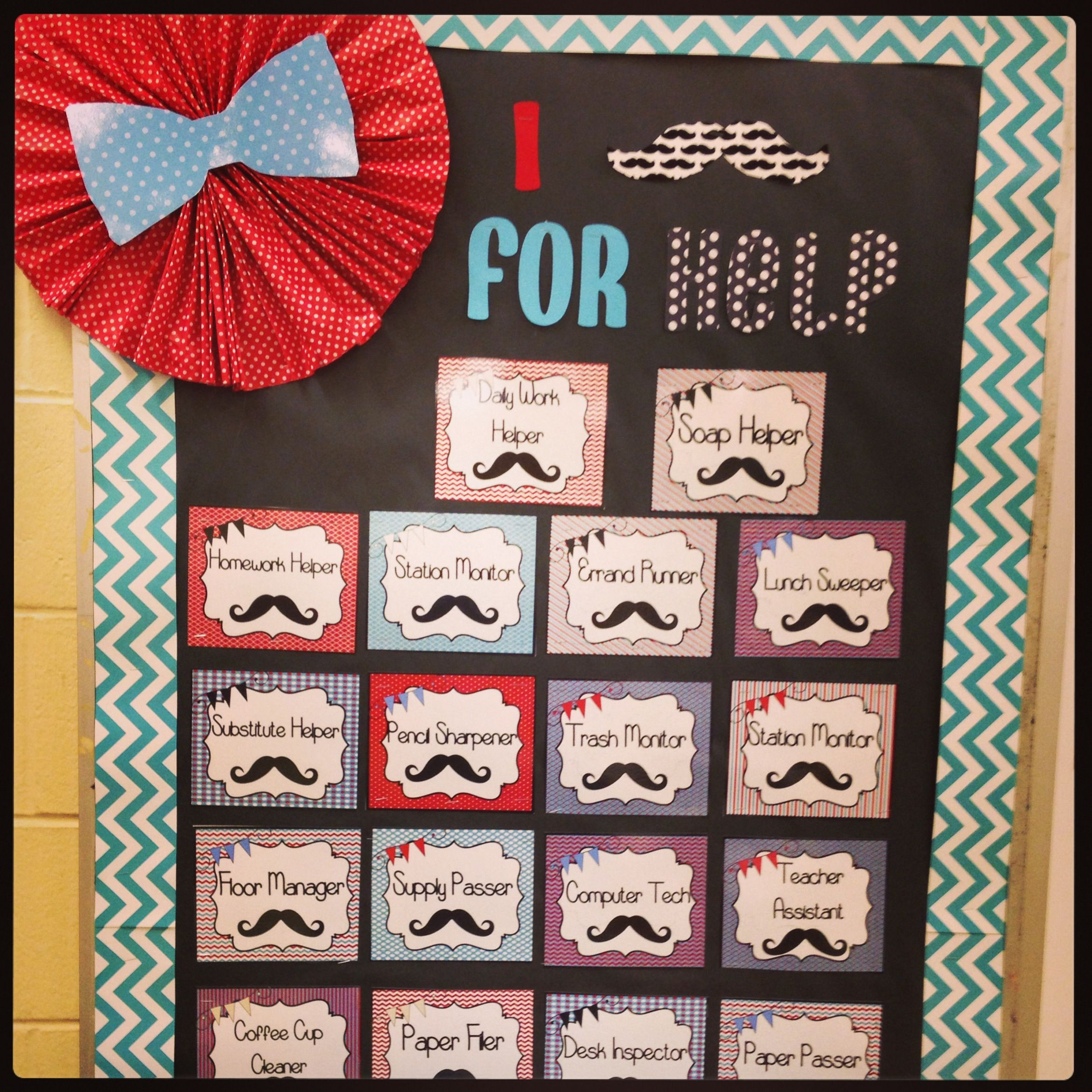 Classroom Decor Chevron : My mustache theme classroom and ctp s chevron