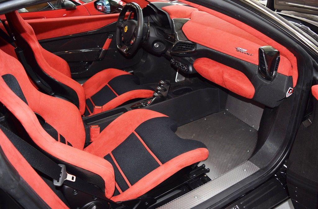 Ferrari 458 Speciale Schwarz Rot 009 Red And Black Interior