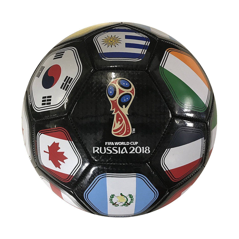 Russia World Cup 2018 FIFA Souvenir Soccer BALL BLACK SIZE