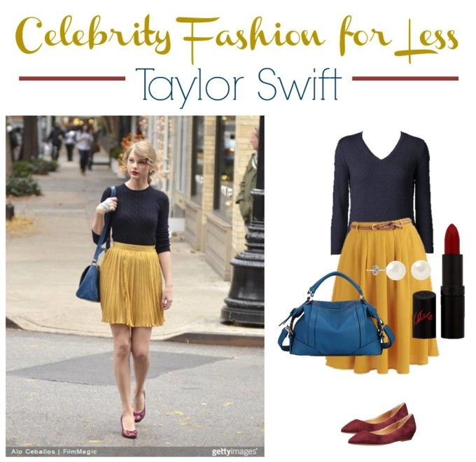 Can you knock off your favorite celebrity fashion with things from a thrift store? Come see how!! Celebrity Fashion for Less - Taylor Swift. #fashion #fashionista #frugal