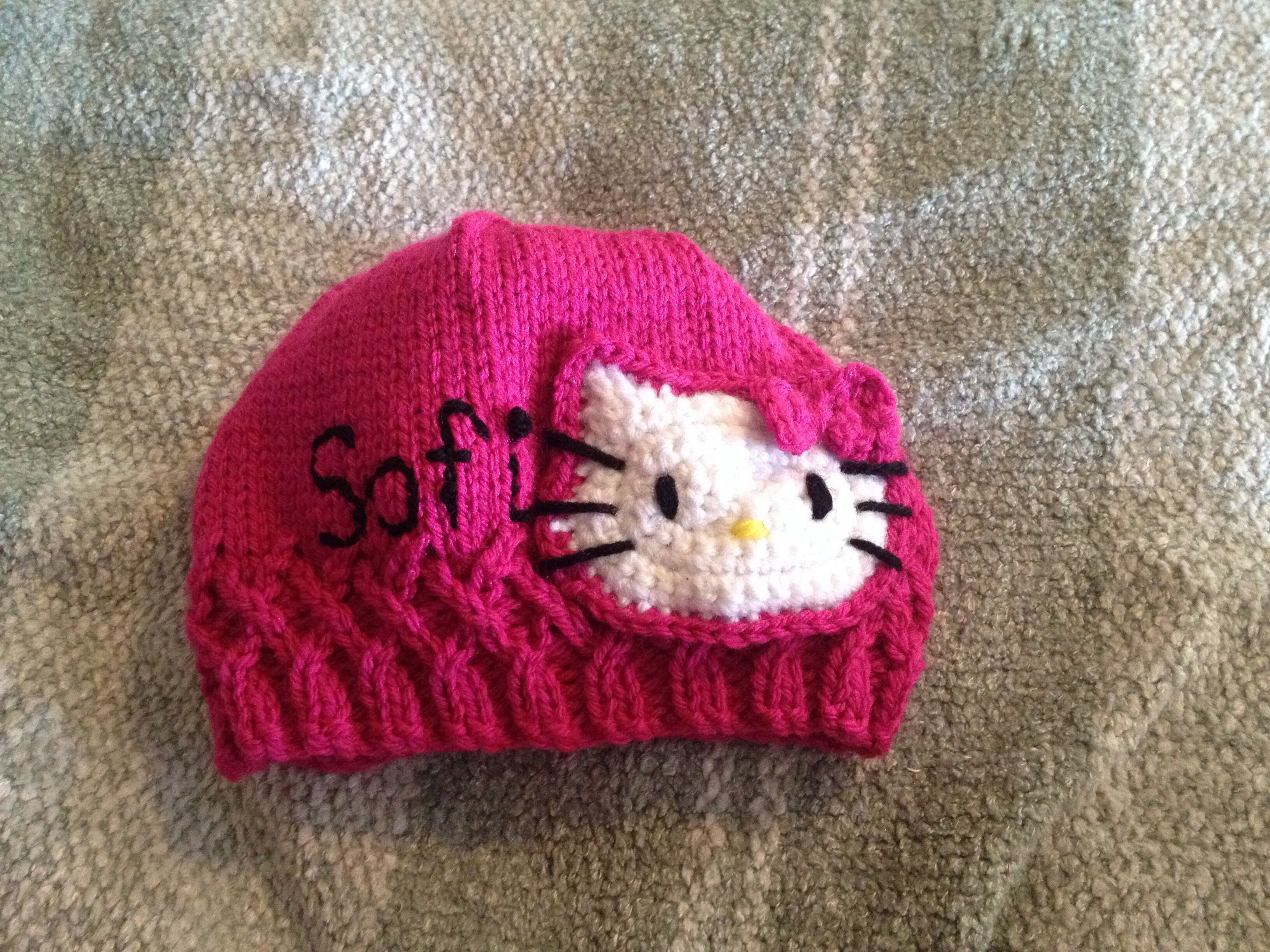 Hello Kitty Hat (With images) | Hat pattern, Hello kitty ...