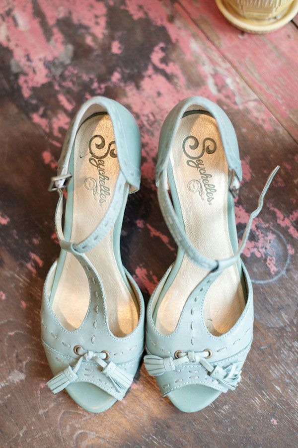 Hip And Funky Wedding Cute Pale Blue Strappy Buckle Shoes With A Fun Feminine Twist