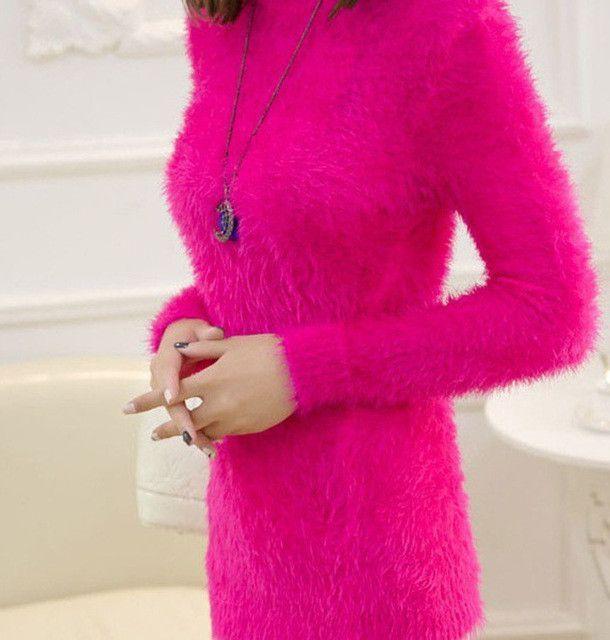 Pull Femme Oversized Sweater Women 2016 Sueter Mujer Korean Pullover  Christmas Sweaters Winter Knitted Jumper Feminino Mohair e47681a2e257