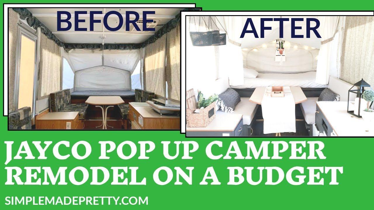 Jayco Swift Pop Up Camper Remodel - Pop up Camper Update ...