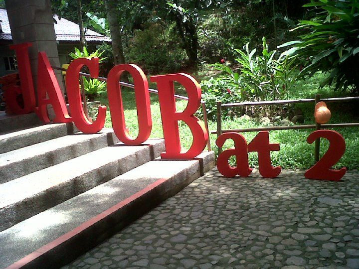 Letter Standees For Party Venue Entrance Jacobs 2nd Birthday