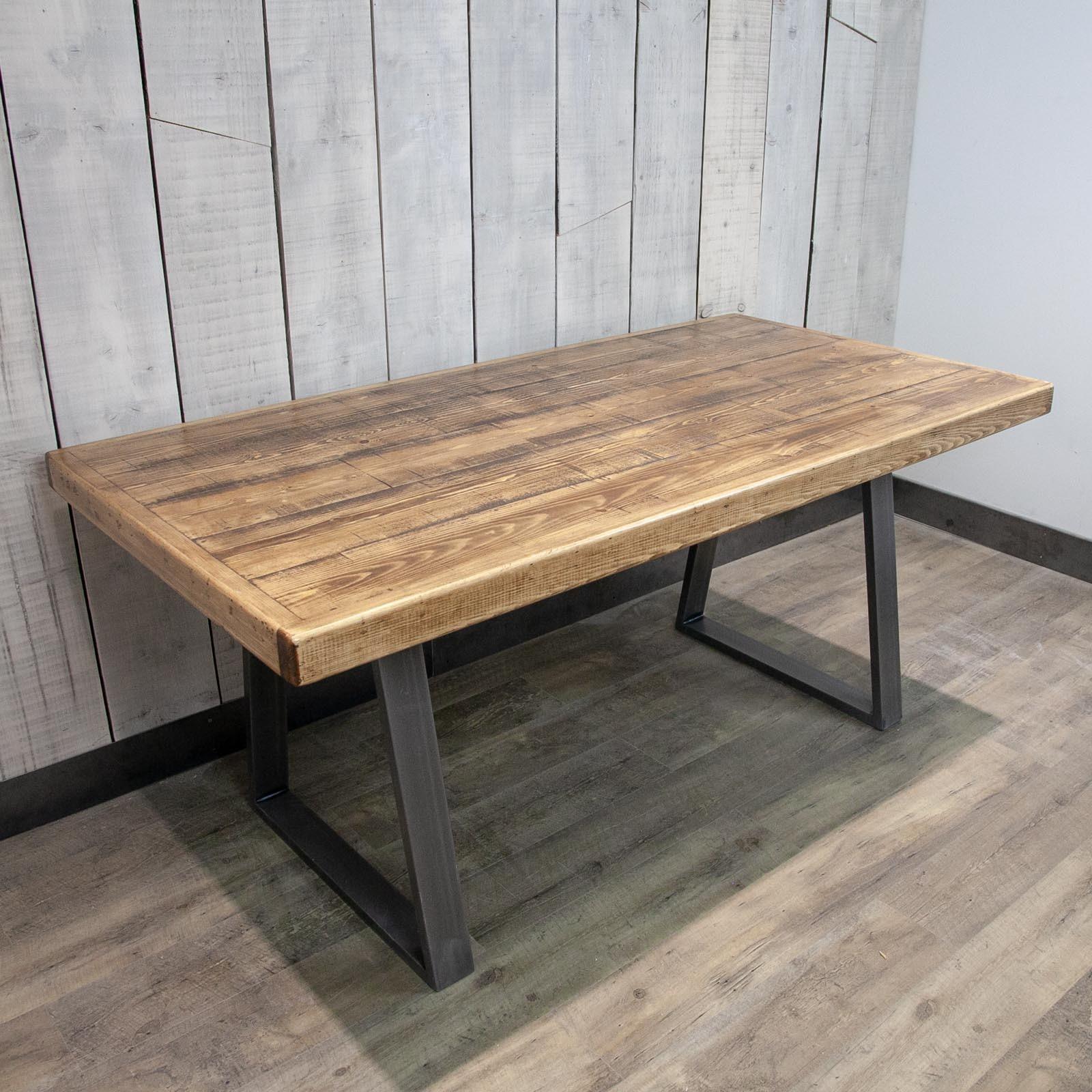 Trapezium Leg Dining Table 160x85cm Patina Patina Vinterior