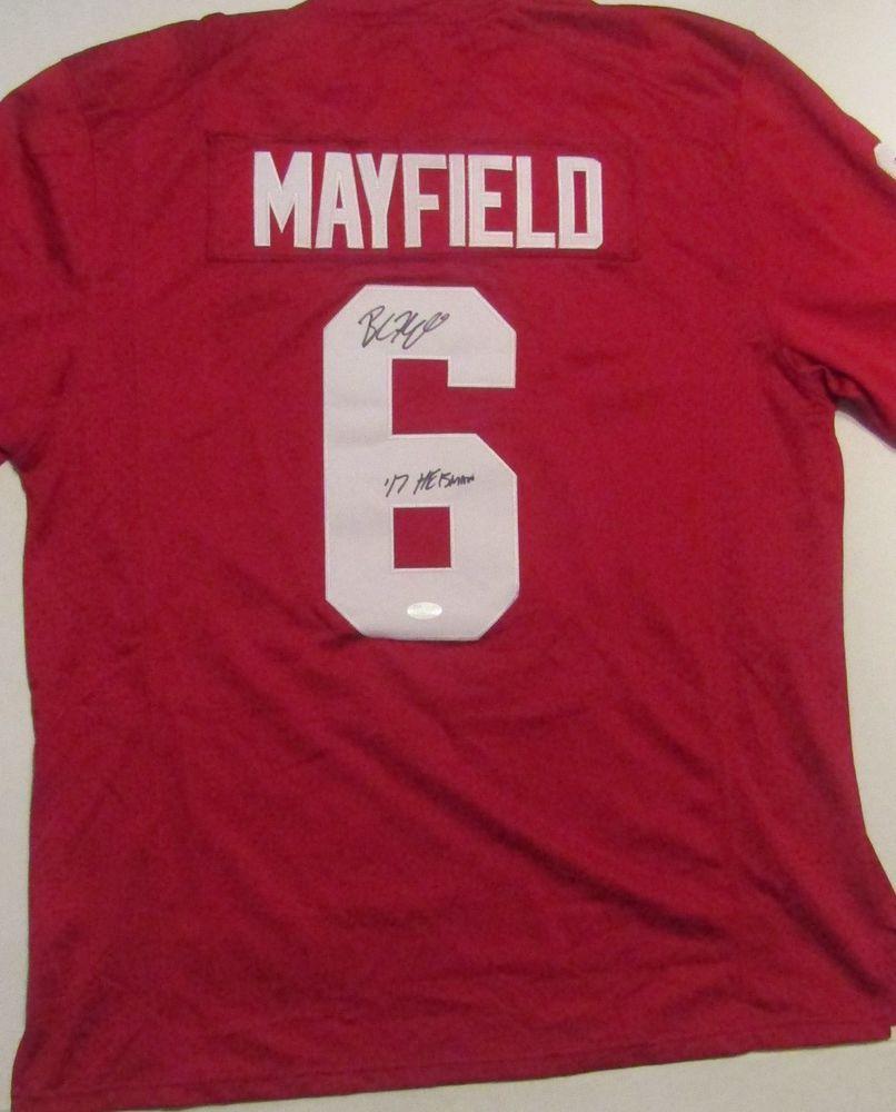 Baker Mayfield Signed Maroon Oklahoma Sooners Jersey Nike COA Rose Bowl  Patch  OklahomaSooners 3fa38052f