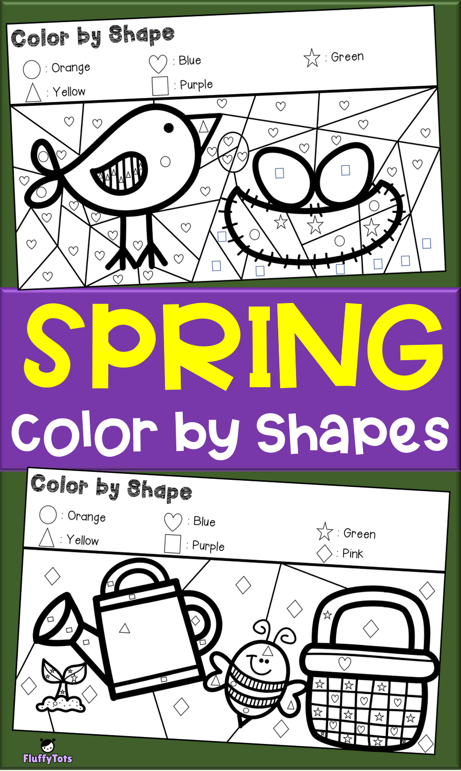 Free Spring Color By Shapes Grab This Fun 6 Coloring Pages Color By Shapes Just Print Spring Coloring Pages Preschool Coloring Pages Toddler Coloring Book [ 1565 x 936 Pixel ]
