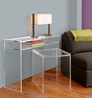 Lucite Console Table From Bp Ikea Side Table Metal Side Table