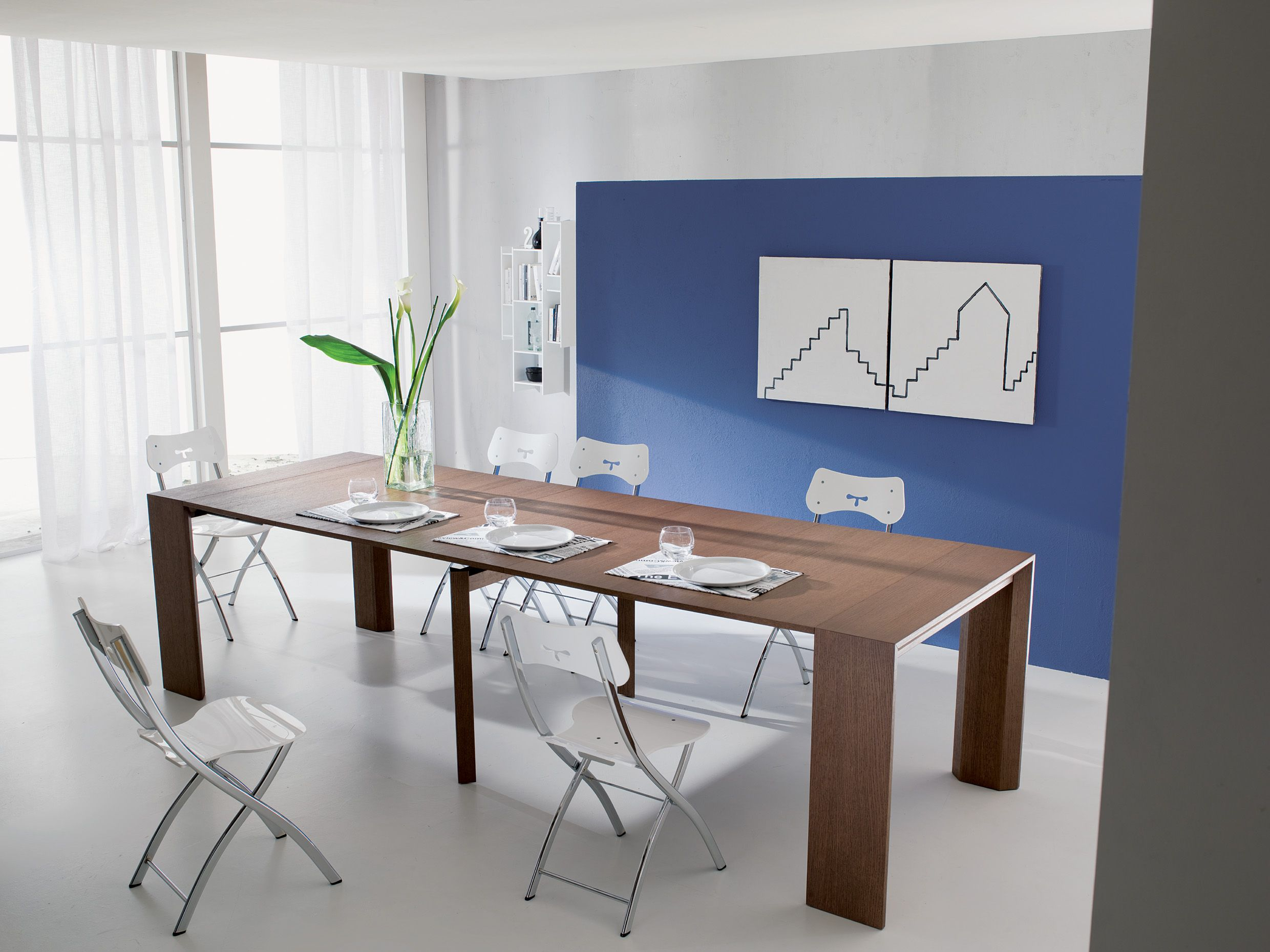 Golia By Ozzio Is A Console That Can Seat Up To 10 People When Fully Extended Resource Furniture Minimalist Dining Room Contemporary Dining Table
