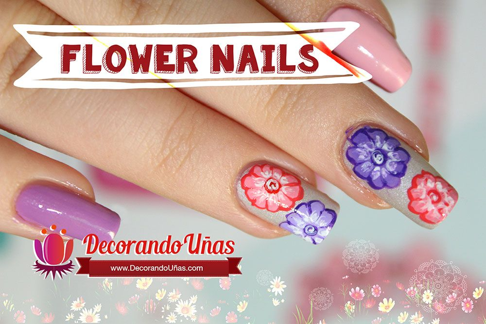 Unas Decoradas Con Flores Estilo Hindu Video Tutorial Paso A Paso
