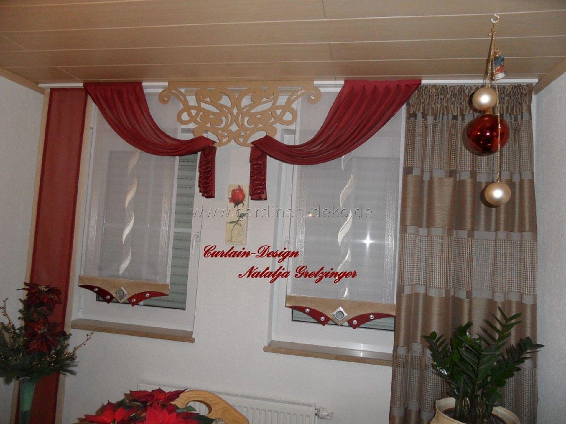 Außergewöhnlicher Schiebevorhang In Rot Mit Feinen Details    Http://www.gardinen