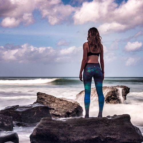 4d7bb7ecc9 Mermaid Camo Leggings — Waterlust. Made with love by us for you out of 6  post consumer plastic bottles and featuring high-performance moisture  wicking and a ...