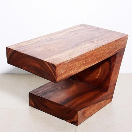 Balance Table 30 in L x 16 x 18 in H Thai Furniture Monkey Pod
