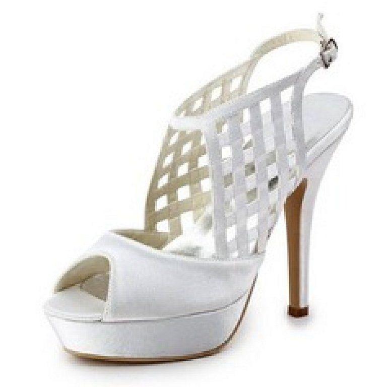 Zapatos peep toe de novia de seda y satén blanco con diseño hueco  Talla 45  Zapatillas de Estar por Casa para Mujer Kickers Ferock Lace2 Lthr Ym - Zapatos de Cordones de Cuero para Niño  Color Negro hzot2