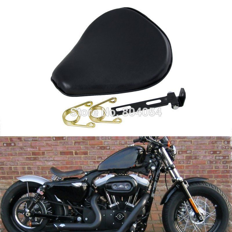 Leatheroid Motorcycle Solo Spring Saddle Seat For Harley - Best custom vinyl decals for motorcycle seat