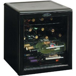 Black See Through Mini Fridge Wine Cooler Wine Chiller Beverage Cooler