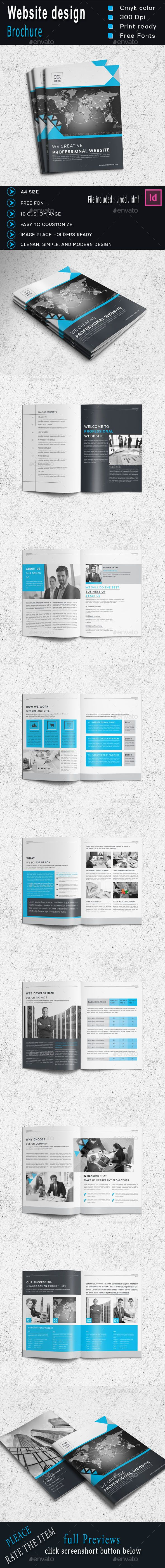 Website Design Brochure Template Vol.2