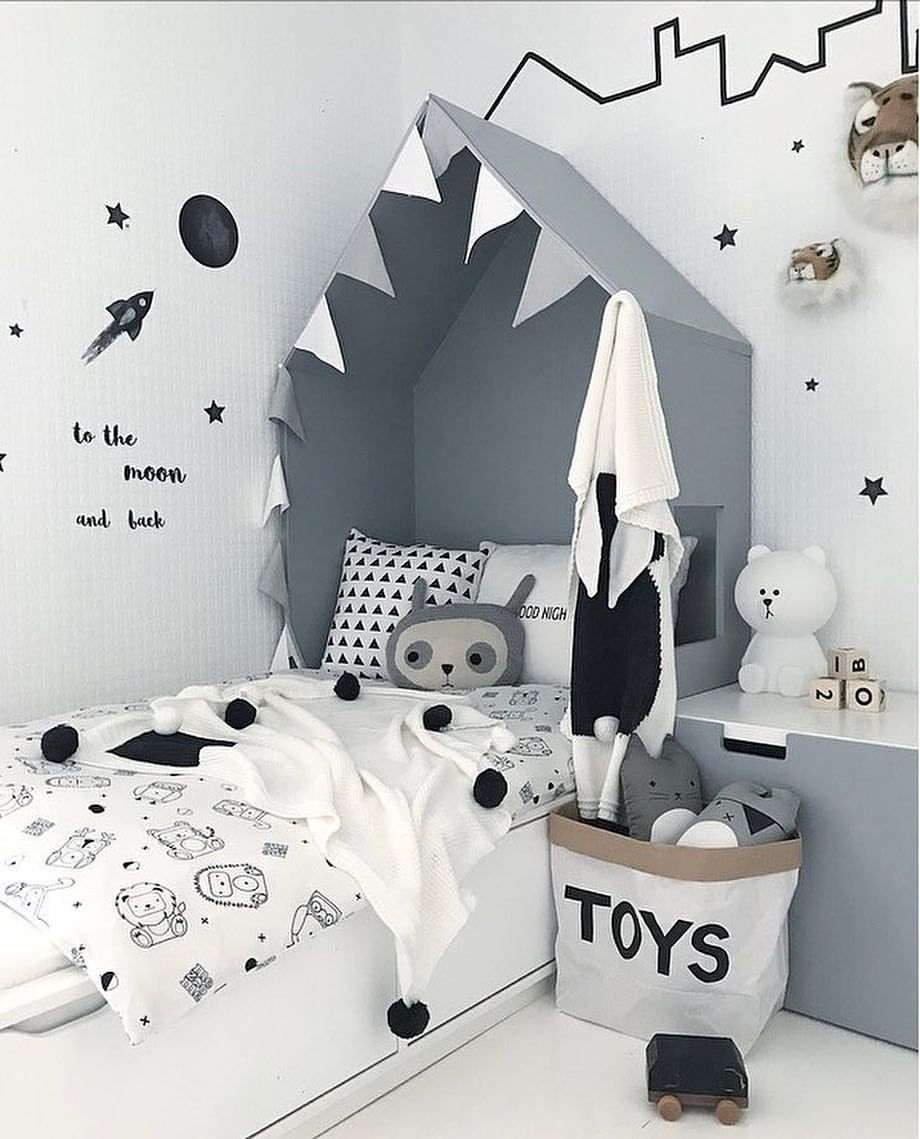 Inspiration From Instagram Toddler Boys Room Ideas Grey Black And White Boys Room Scandinavian Style Monochro Boy Room Kids Interior Room White Kids Room