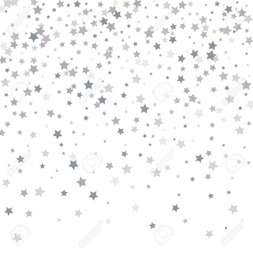 Silver Glitter Falling Stars Silver Sparkle Star On White Background White Background Confetti Background Background