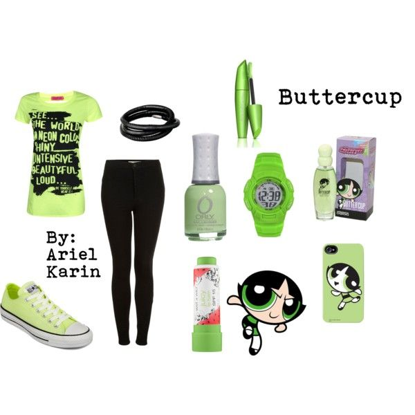Powerpuff Girls Buttercup  My Polyvoreshoplook - Ariel -2276