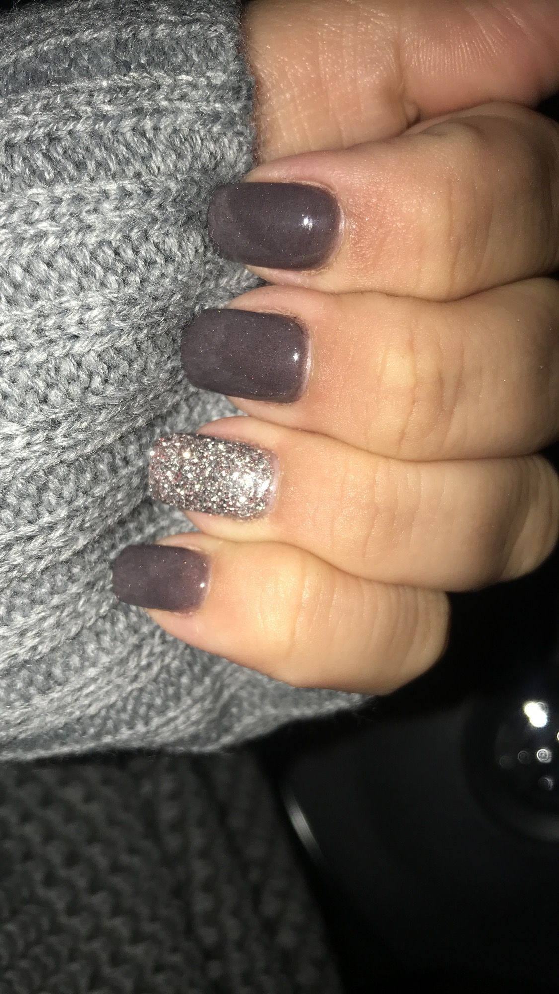 Love my fall color SNS nails
