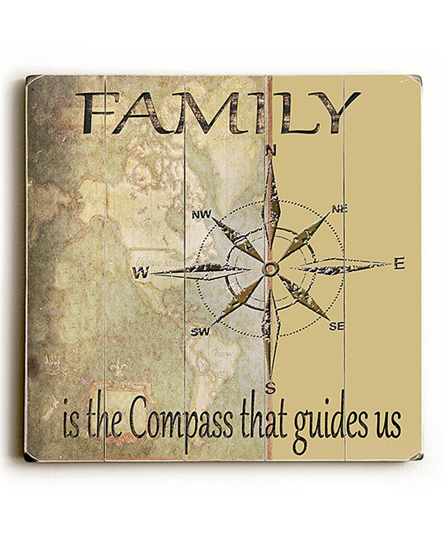 Look at this \'Family is the Compass\' Wall Art on #zulily today ...