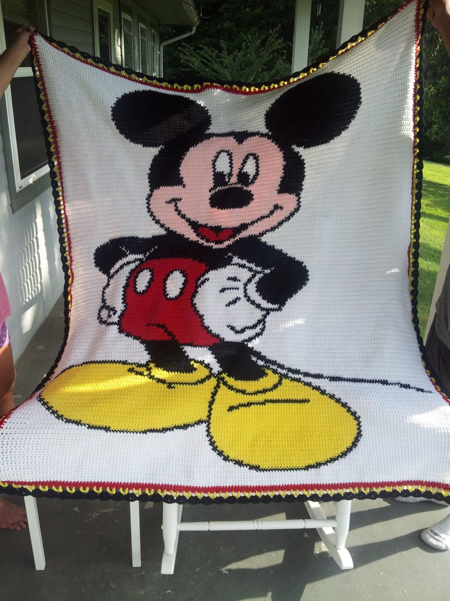 Alfombras Mickey Mouse Crochet Mickey Mouse Afghan Crochet Mickey Mouse Blanket
