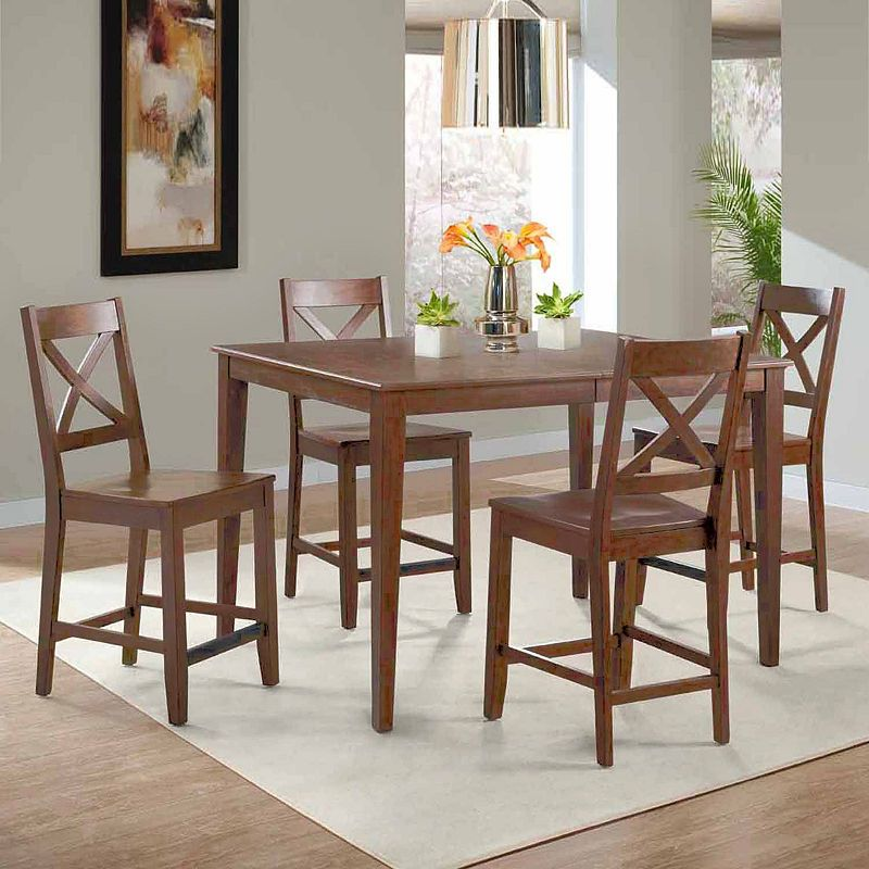 Dining Possibilities 5 Piece Rectangular Counter Height Table With