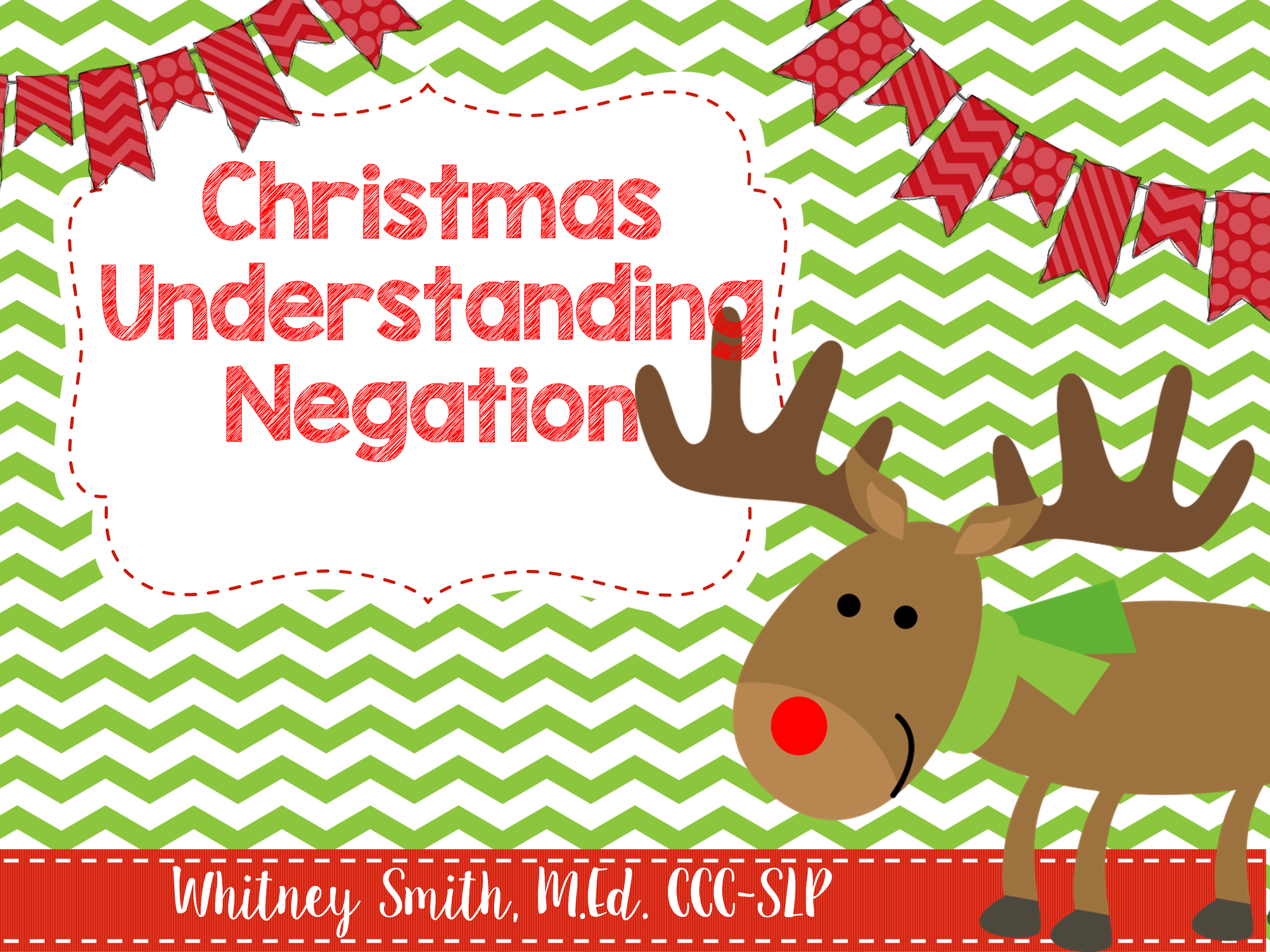 Christmas Themed Understanding Negation For Speech Therapy