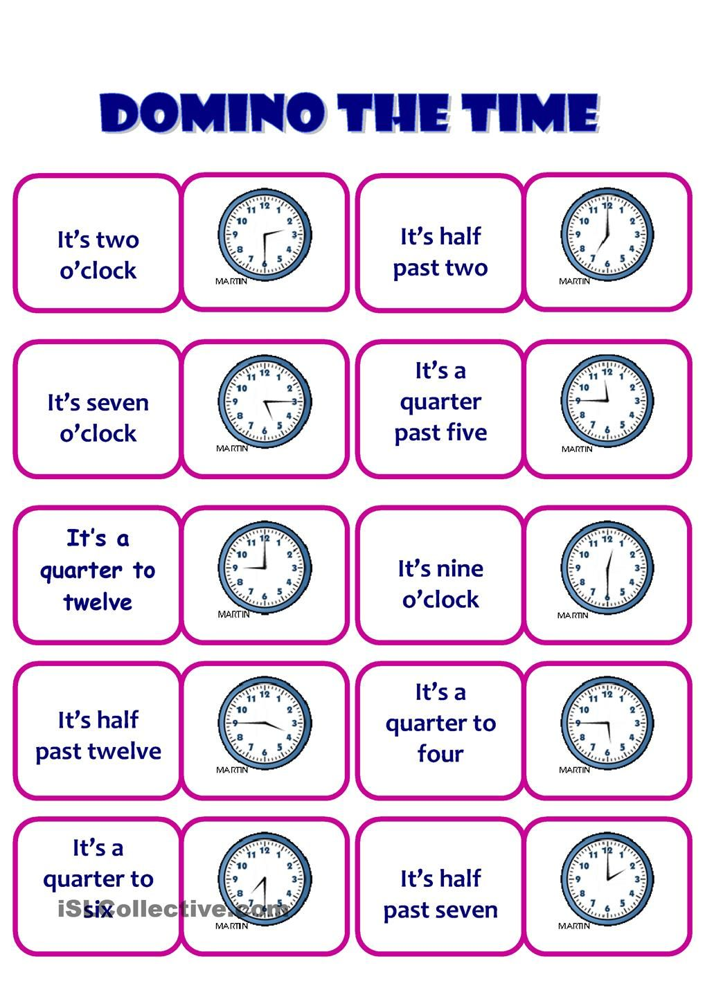 The Time worksheet - Free ESL printable worksheets made by teachers