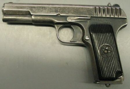 tokarev tt mod 1933 pistol, left side view same pistol, right side Astra 400 tokarev tt mod 1933 pistol, left side view same pistol, right side view tokarev tt 33, post ww2 manufacture (with smaller slide serrations) tt 33,