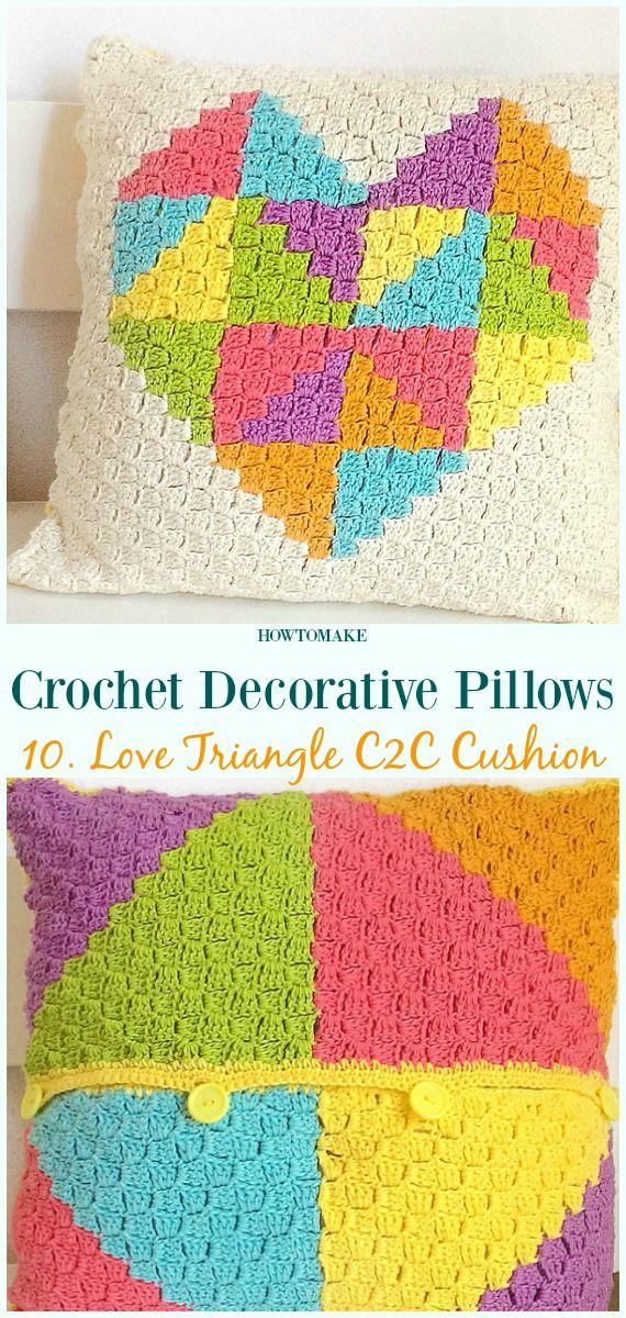 Crochet Decorative Pillow Free Patterns Pillow Case Pillow Cover