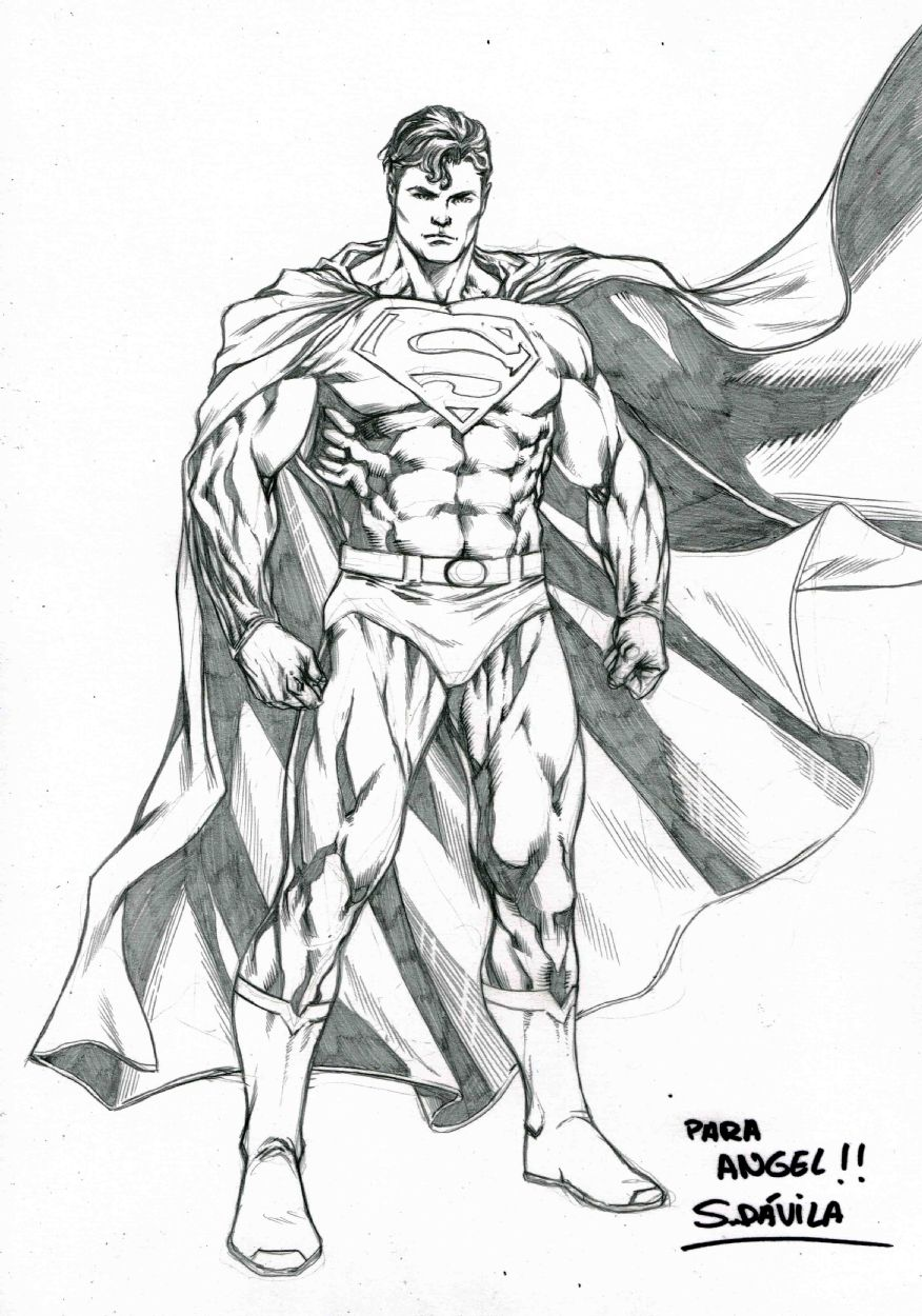 Superman By Sergio Davila Superman Comic Art Comics