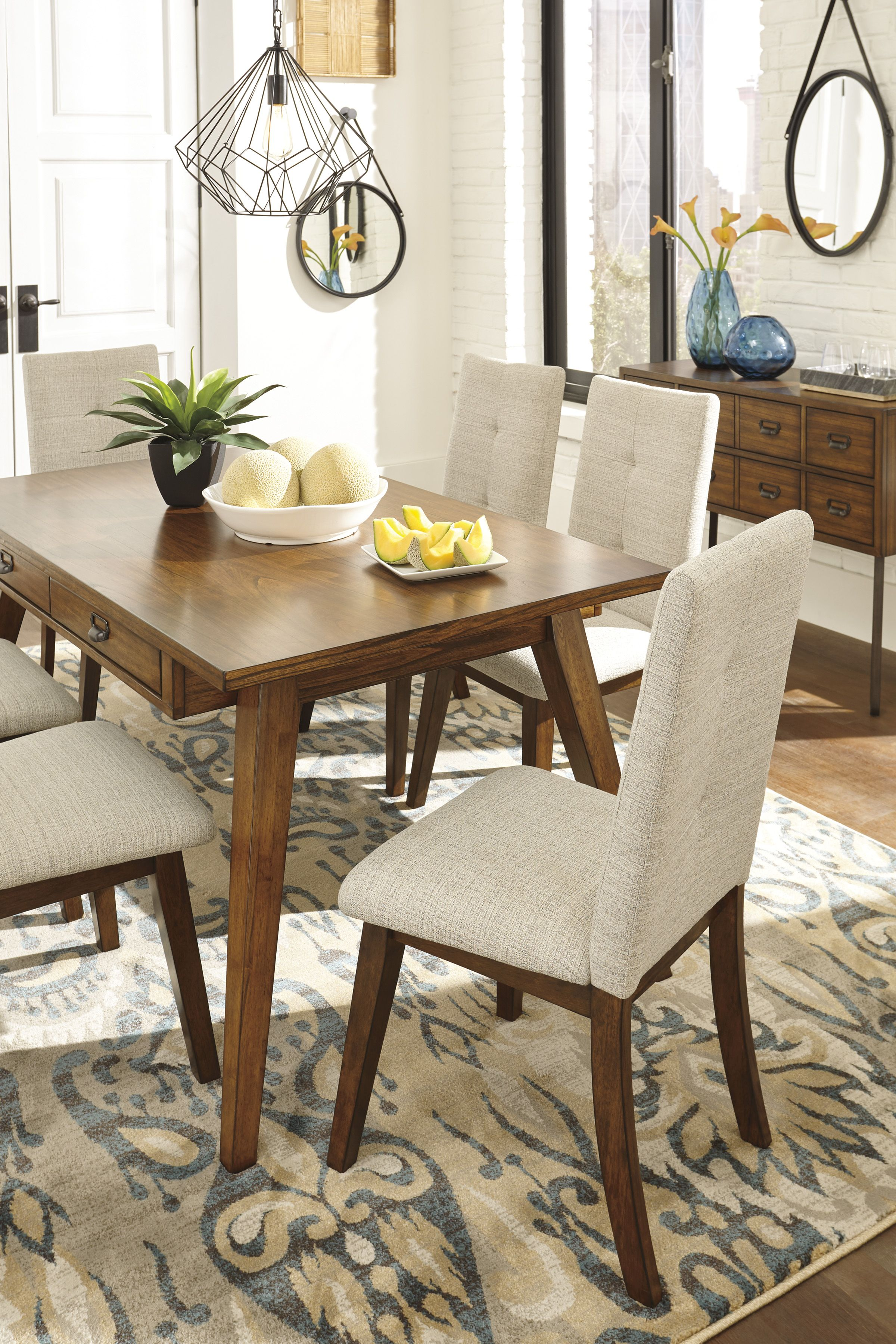 Ashley Centair Table 4 Upholstered Chairs Homemakers Furniture