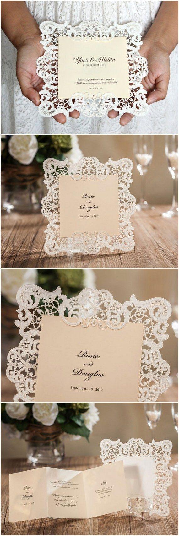 Vintage Wedding Invitation Vintage Invitations Lace Wedding