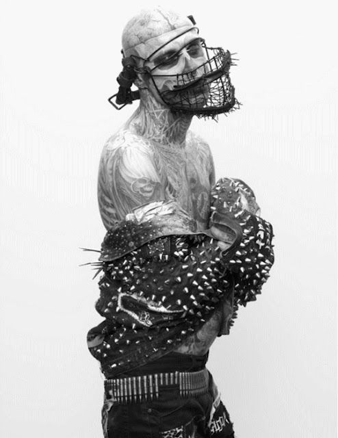 Rick Genest by Steven Klein by Arena Homme + S/S, 2011