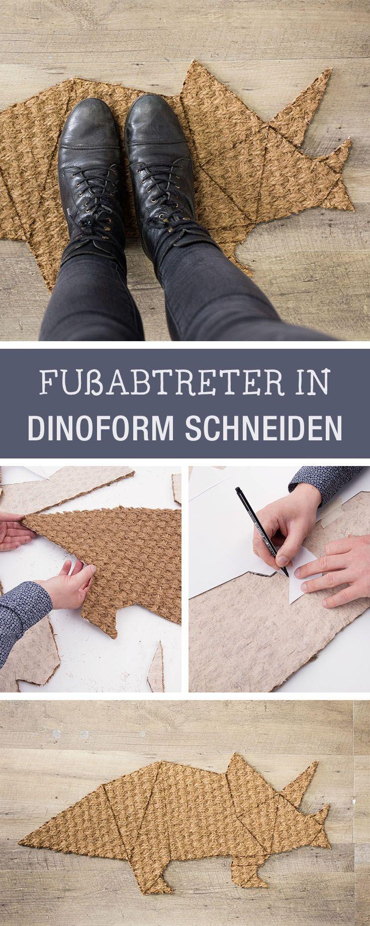 Diy Inspiration Fur Dein Zuhause Fussabtretet In Dinoform Basteln