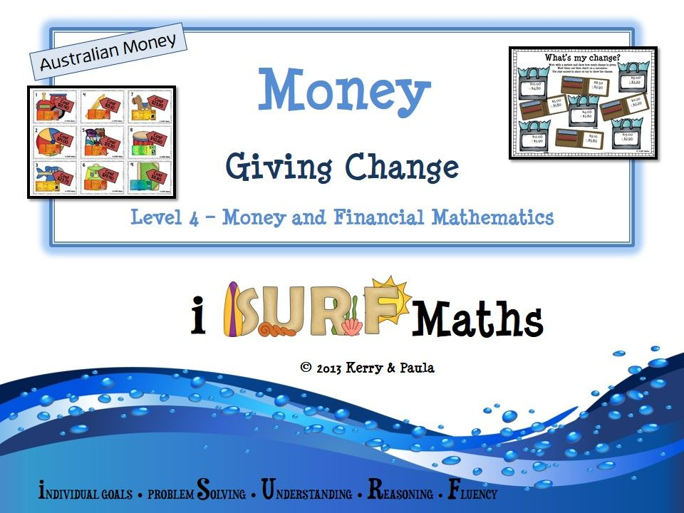 Money Giving Change (Australian Money) 58 pages At