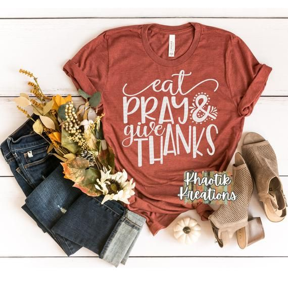 Eat Pray Give Thanks Svg, Thanksgiving Svg, Fall S