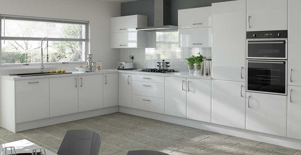 Download Wallpaper White Kitchen Cupboards Photos