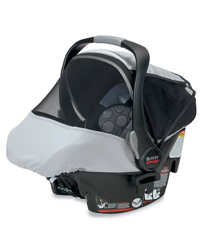 The BRITAX Infant Car Seat Sun & Bug Cover provides protection from ...